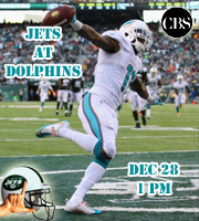 Jets at Dolphins @ 1 pm EST (CBS)