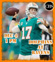 Week 13: Miami Dolphins at Baltimore Ravens, 1 pm